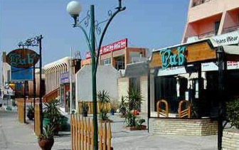Part of the  main street along Hurghada's downtown area