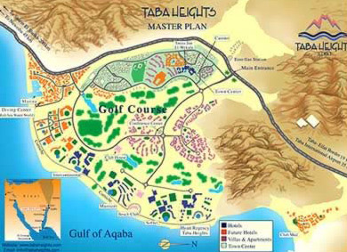 Map of Taba  Heights