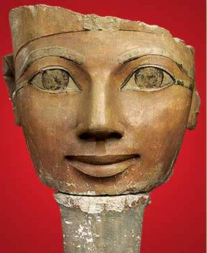 Statue of Hatshepsut with her fake beard