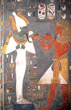 Osiris with Horemheb