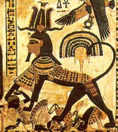 Another griffin, but this time with the head of Tutankhamun