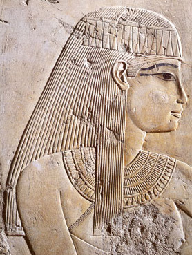 Werel, the wife of the king's superintendent of horses, May, depicted in the tomb of Ramose on the West Bank of Luxor