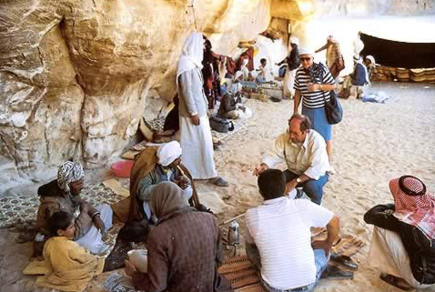 Bedouin Lunch with Tourists