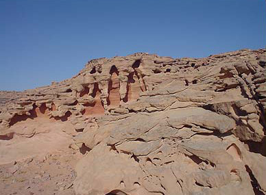 Strange rock formation in the Sinai mountains