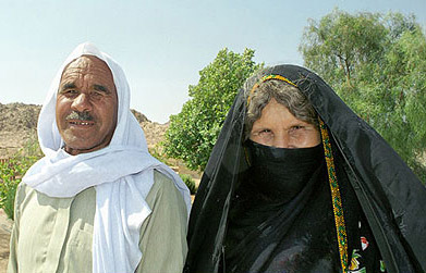 A Bedouin husband and wife from tribal intermarriage