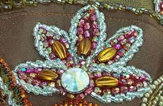 Beaded decoration on a belly dancing dress