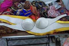 Making a belly Dancing Bra (base of the bra)
