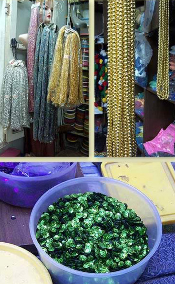 Beads and sequins for belly dancing dresses