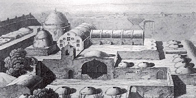 The Monastery of Bishoy as it appeared to the French during the making of the Description de l'Egypte (1809)