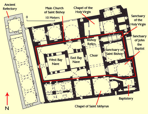 Plan of the Main Church and the other Chapels