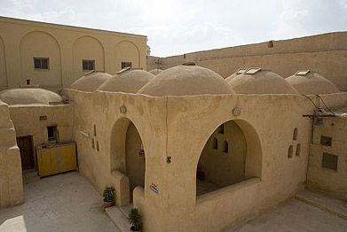 Domes, or Copulas, dominate the older buildings of the monastery
