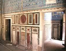 Another notable feature of this Mosque is its fine marble Mihrab (prayer niche)