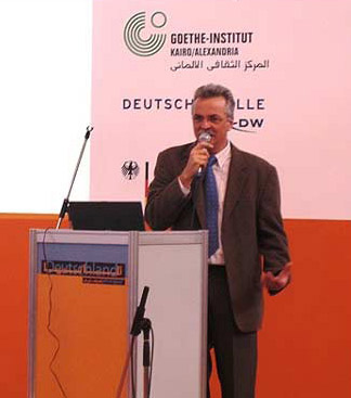 Lectures at the Book Fair too, including this one by the German Goethe Institute
