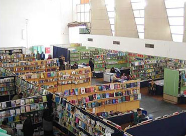 Many Booths at the Book Fair