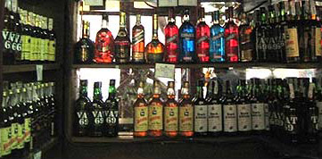 Part of the liquor shop in Simon Cafe