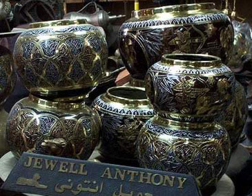 Egyptian brass pots