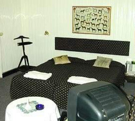 A room in the budget priced three star Hotel Longchamps