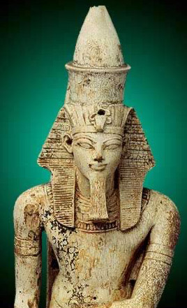 Part of a Statuette of Amenhotep III