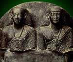 Statue Group of Montuemhat and his Son, Nesptah