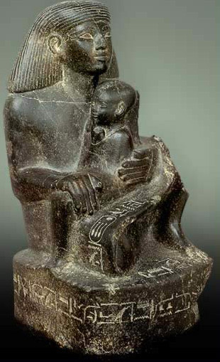 Statue of Senenmut with Neferure