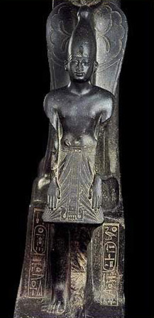 Statue of Amenhotep II with Meretseger