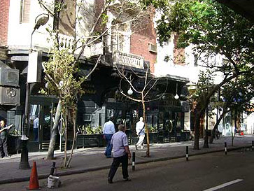 A view of the exterior of the Maison Thomas Restaurant