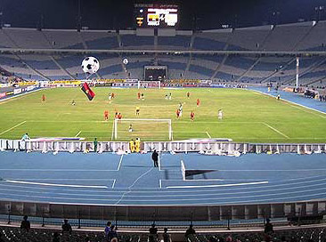 A view of the Cairo Stadium