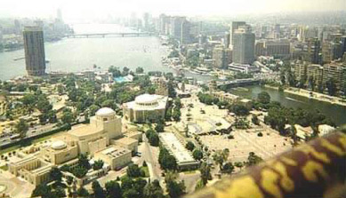 A daytime view from the Cairo Tower