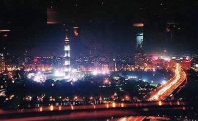 The Cairo Tower at night