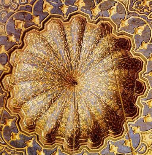 Detail of the interior dome of the Mosque-Madrasa of Barquq (1384-86)