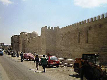 A view down Cairo's ancient Northern Walls