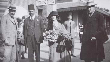 Lord Carnarvon and Lady Evelyn herbert arrive at Luxor station on November 23rd, 1922 and met by Howard Carter and the Governor of the Qena Province