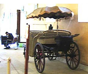 An older carriage used for high employees of the Egyptian government during the reign of Khedive Ismail