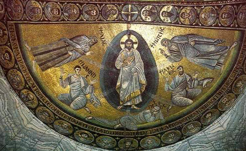 The Mosaic of the Transfiguration - A icon from the Monastery of St. Catherine in the Sinai of Egypt