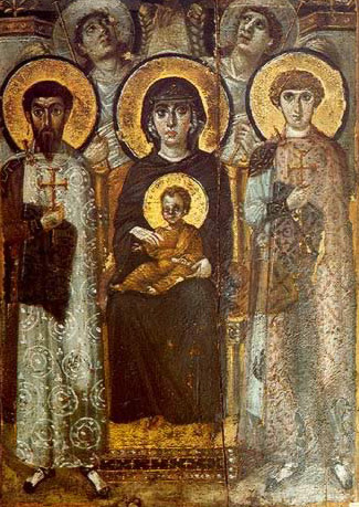 The Virgin and Child Enthroned - Icon in the Monastery of St. Catherine