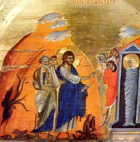 The Raising of Lazarus - Icon in the Monastery of St. Catherine