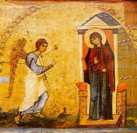 The Annunciation - Icon in the Monastery of St. Catherine
