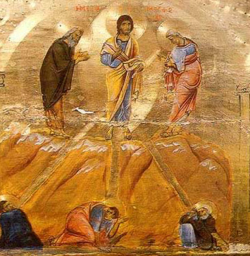 The Transfiguration, an iconostasis icon form the 12th century - A icon from the Monastery of St. Catherine in the Sinai of Egypt