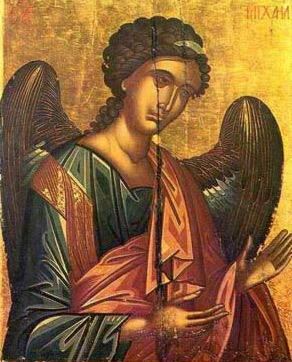 The Archangel Michael, a Post-Byzantine Cretan Icon dating to the 16th century - A icon from the Monastery of St. Catherine in the Sinai of Egypt