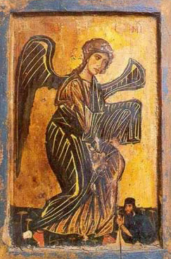 The Archangel Michael dating from the 12th century - A icon from the Monastery of St. Catherine in the Sinai of Egypt