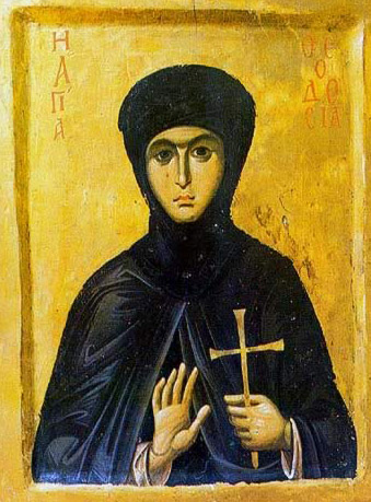 St. Theodosia - Icon in the Monastery of St. Catherine