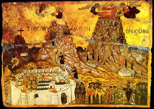 Topographical Icon of Mount Sinai - Icon in the Monastery of St. Catherine
