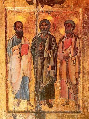 Apostles Paul, Andrew and Peter - Icon in the Monastery of St. Catherine