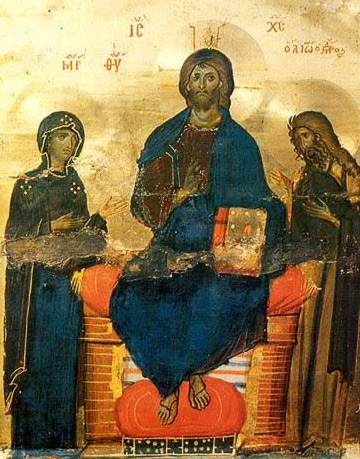Deesis - Icon in the Monastery of St. Catherine