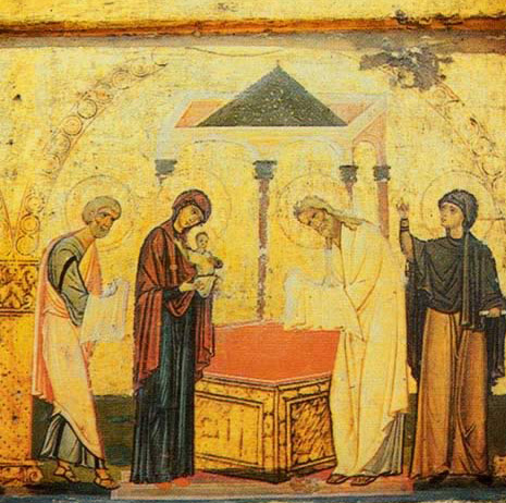 The Presentation of Christ in the Temple - Icon in the Monastery of St. Catherine