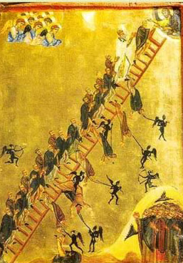 "The ""Ladder to Heaven"" , A Sinaitic Icon dating to the 12th or 13th century - A icon from the Monastery of St. Catherine in the Sinai of Egypt"