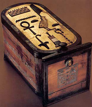 This decorative box bears the name of Tutankhamun