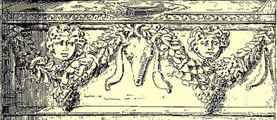 A drawing of the right side sarcophagus showing more detail
