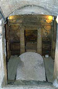 Stairway leading down to the second level and the Main Tomb