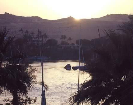 Sunset at the Old Cataract Hotel (In Aswan)